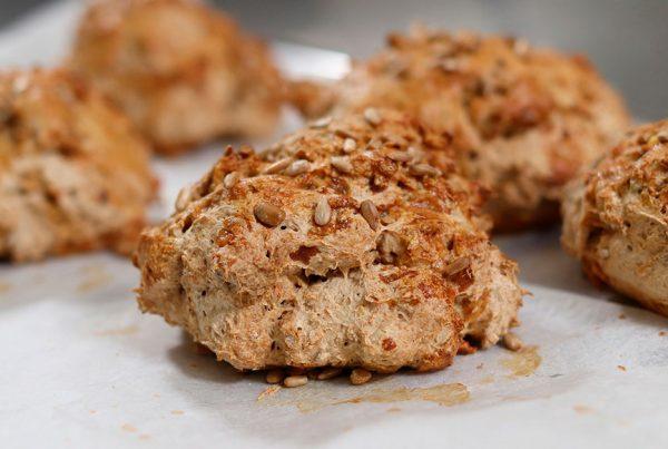 billede til opskrift på glutenfri sandwichbrød